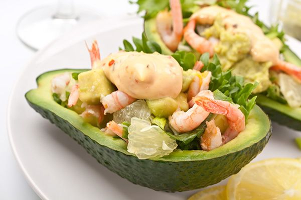 Tangy Shrimp Avocado Salad with Spicy Mayo A feisty appetizer or salad idea filled with unexpected flavours.