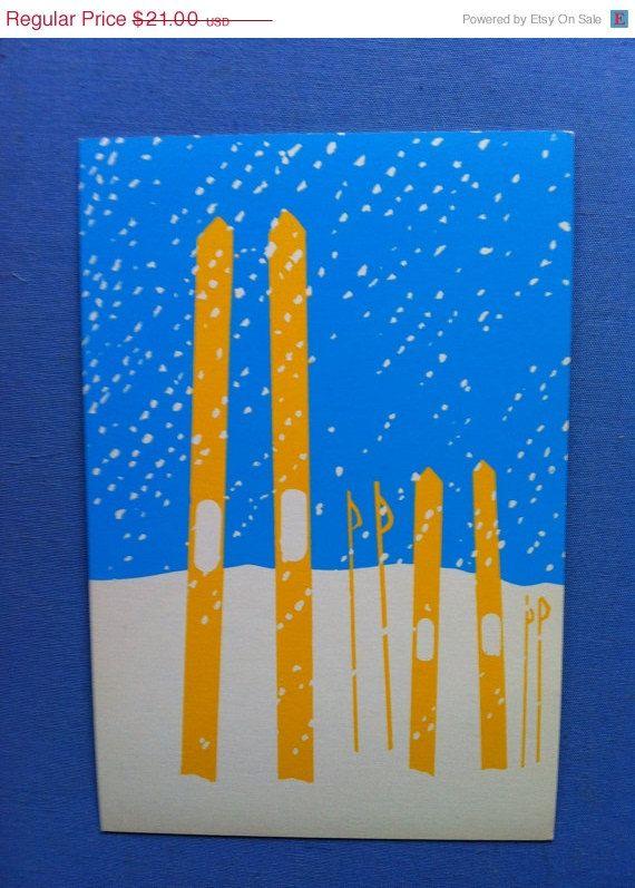 ON SALE Danish Christmas Postcard Ole Kortzau 1977 by drcarrot, $15.75