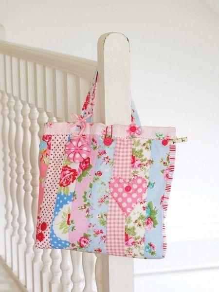 Patchwork Project Bag Sewing Pattern Download                                                                                                                                                                                 More