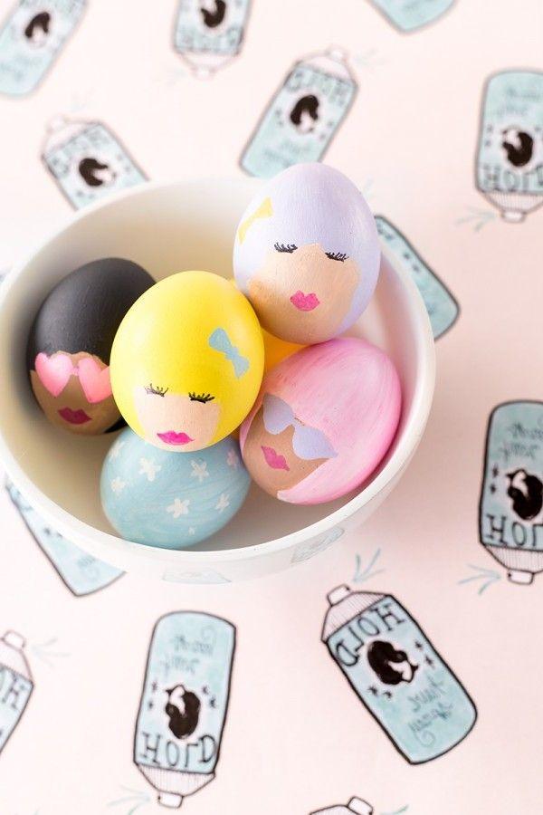 DIY lustige Eier Gesichter - lesen Sie hier alle Schritte