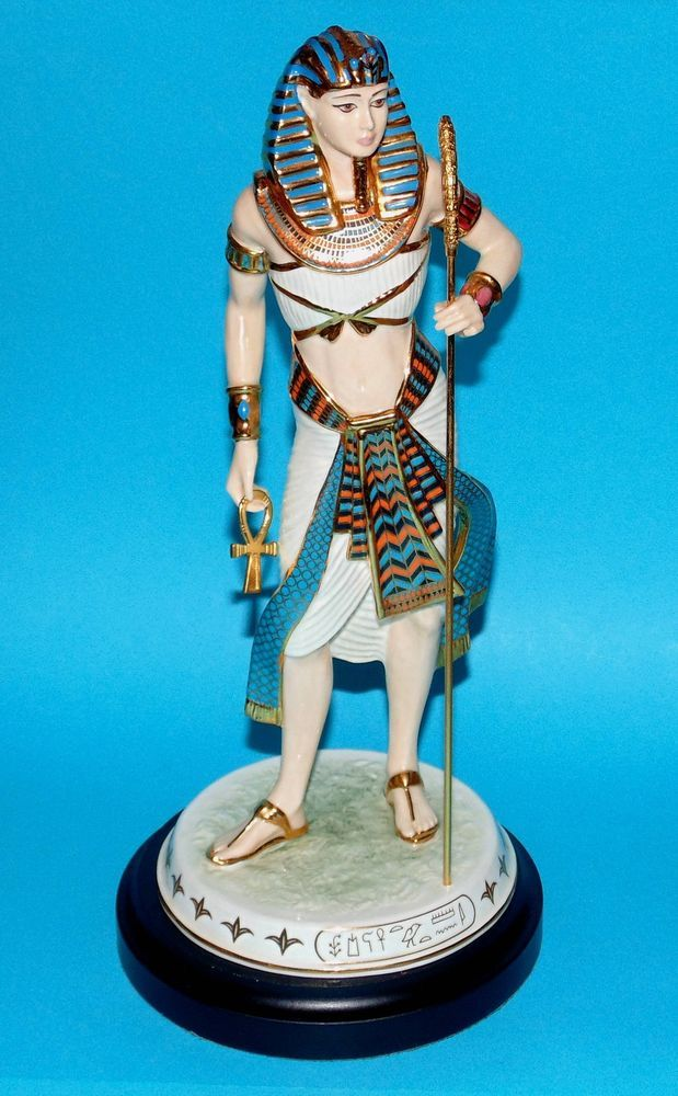 wedgwood egypt ornament royal figurine king tutankhamun