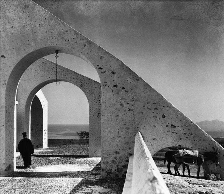"GREECE. Cyclades. Santorini. 1937. ""Terrace of Profitis Ilias Monastery""."