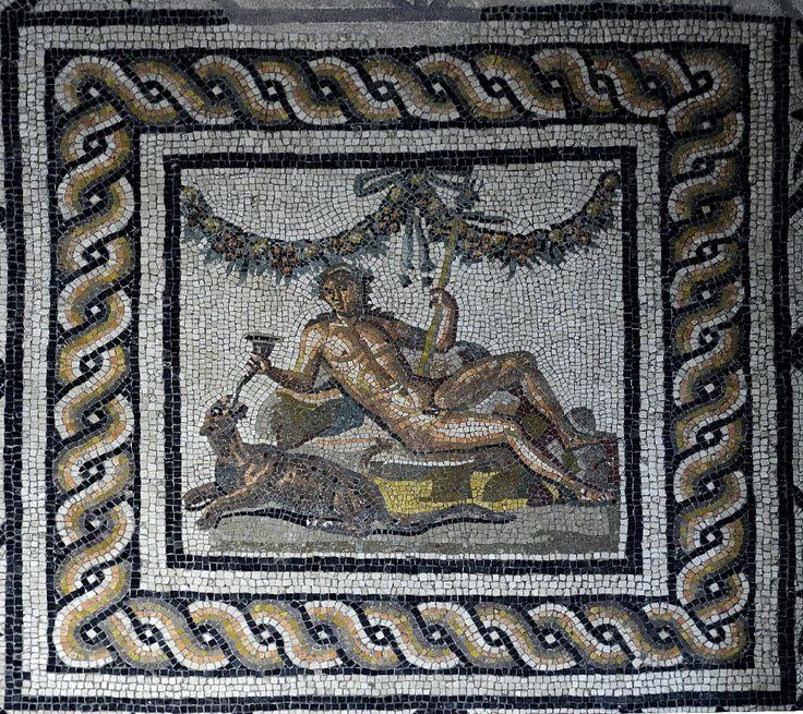 Bacchus (Dionysus), Roman mosaic, ca 2nd century AD (Museo della città Santa Giulia, Brescia),