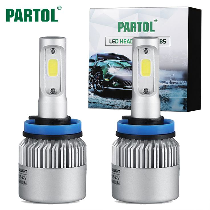buy s2 partol 72w 8000lm h11 cob led headlight bulbs car led h4 h7 h1 headlights conversion kit 9005 #focus #lighting