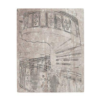 Best Posters Metal Art Spiral Staircase Metal Print 400 x 300