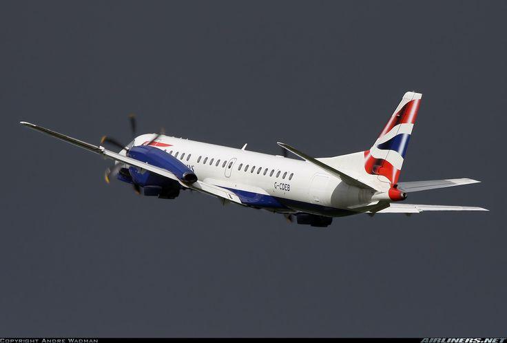 British Airways (Eastern Airways) Saab 2000  Rotterdam (- Zestienhoven) (RTM / EHRD) Netherlands, April 14, 2014
