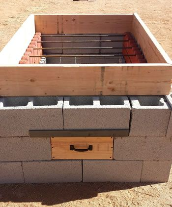 How to build a pit for cooking a whole hog from concrete block (cinder block).