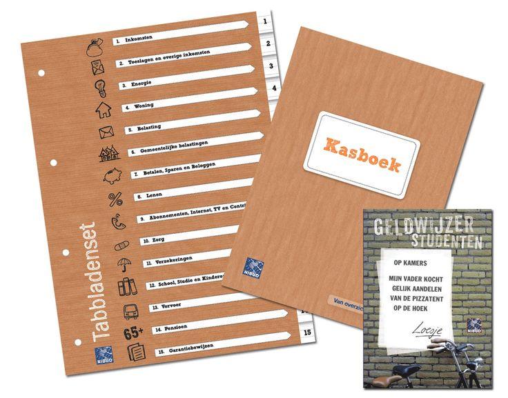 Tabbladenset en een Kasboek in de Nibud Webwinkel. http://winkel.nibud.nl/consumenten/