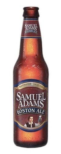 Cerveja Samuel Adams Boston Ale, estilo American Amber Ale, produzida por Boston Beer Company, Estados Unidos. 5.1% ABV de álcool.