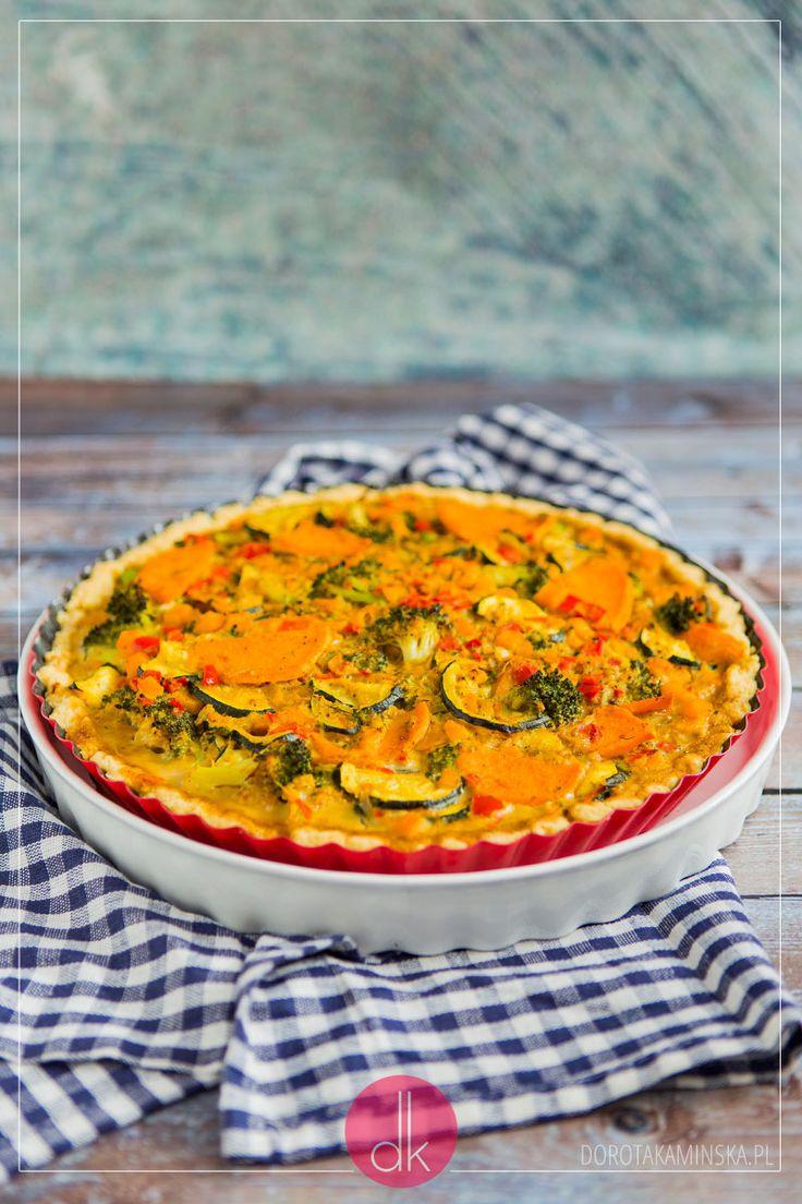 Tarta z warzywami całoroczna, idealna również na jesień i zimę. Doskonałe danie bez mięsa.  #vegetarian #vege #przepis #tarta #obiad #przekąski #kolacja #quiche
