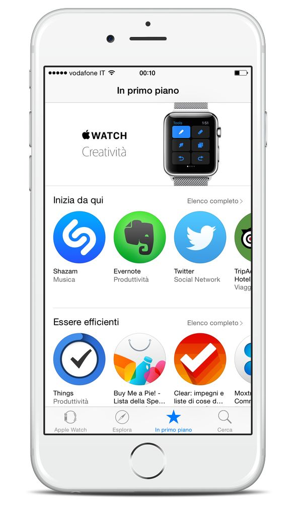 Also in Italy the #AppStore for #AppleWatch is online!