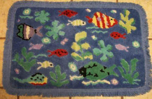 17 best images about basement beach decor on pinterest for Fish bathroom rug