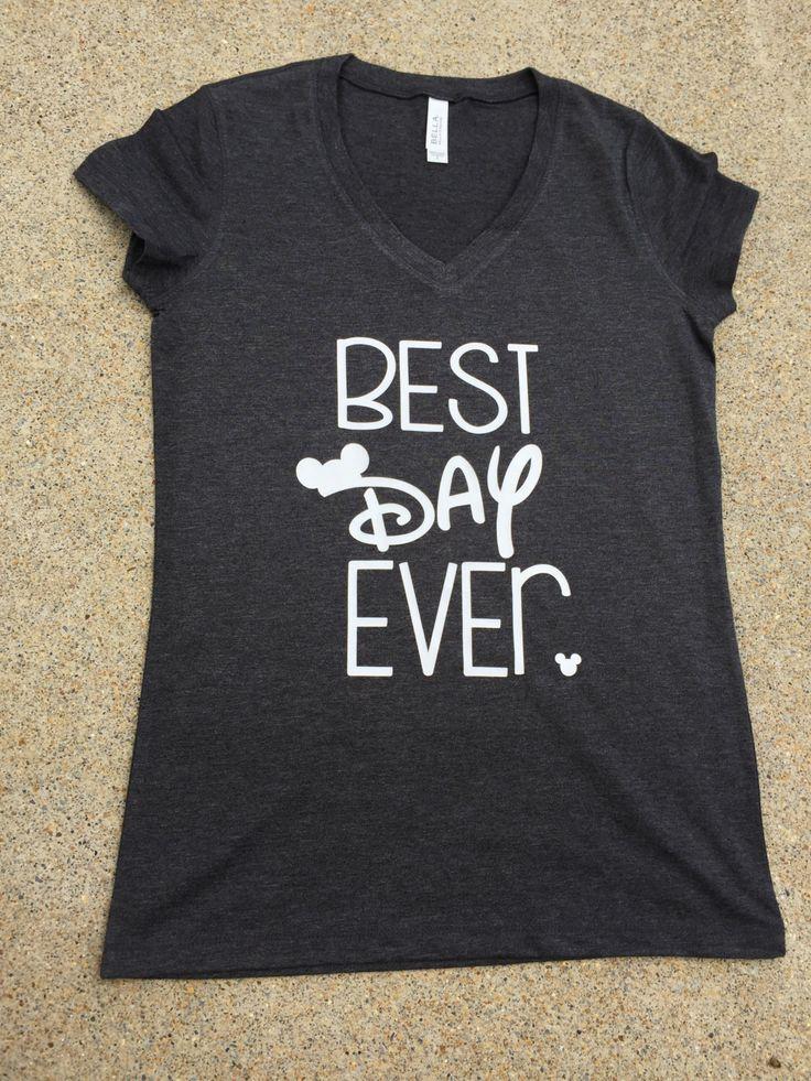 Disney Shirt | Best Day Ever | Cute Disney TShirt | Unisex Disney Shirt | Cutest Disney Shirt | by PersonalEffectsLLC on Etsy https://www.etsy.com/listing/456431718/disney-shirt-best-day-ever-cute-disney