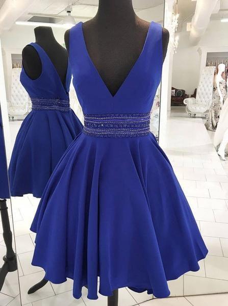 6b5985ae440 Royal Blue Cocktail Dresses Modest
