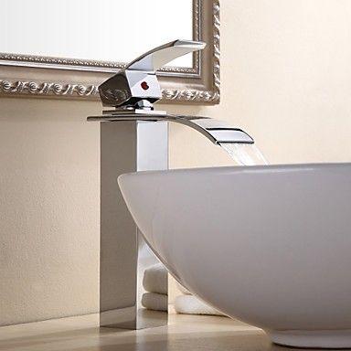 Becken Einhand Ein Loch in Chrom Waschbecken Wasserhahn                                                                                                                                                                                 Mehr