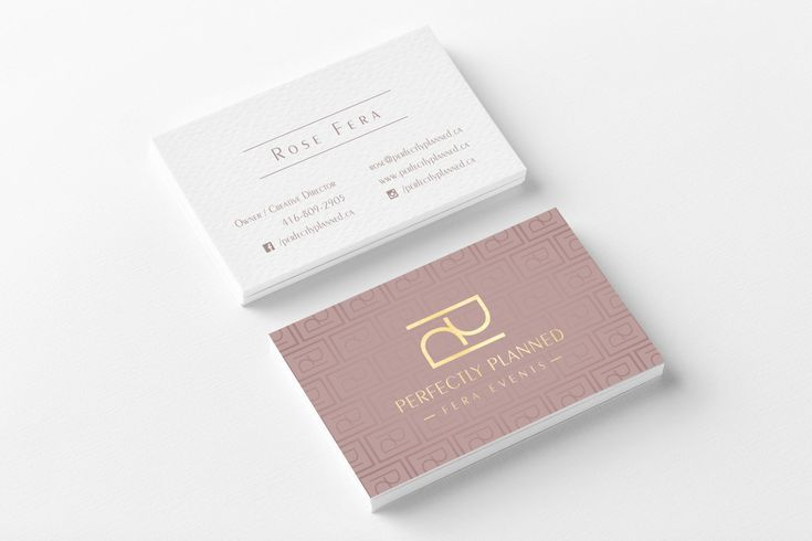 Brand Identity Perfectly Planned Fera Events Event Planning Business Cards Squarespace Web Design Unique Business Cards