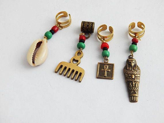 African Hair Accessories Silver Eye of Horus Dreadlock Jewelry Dread Beads Hair Jewelry for Braids Egyptian Loc Jewelry