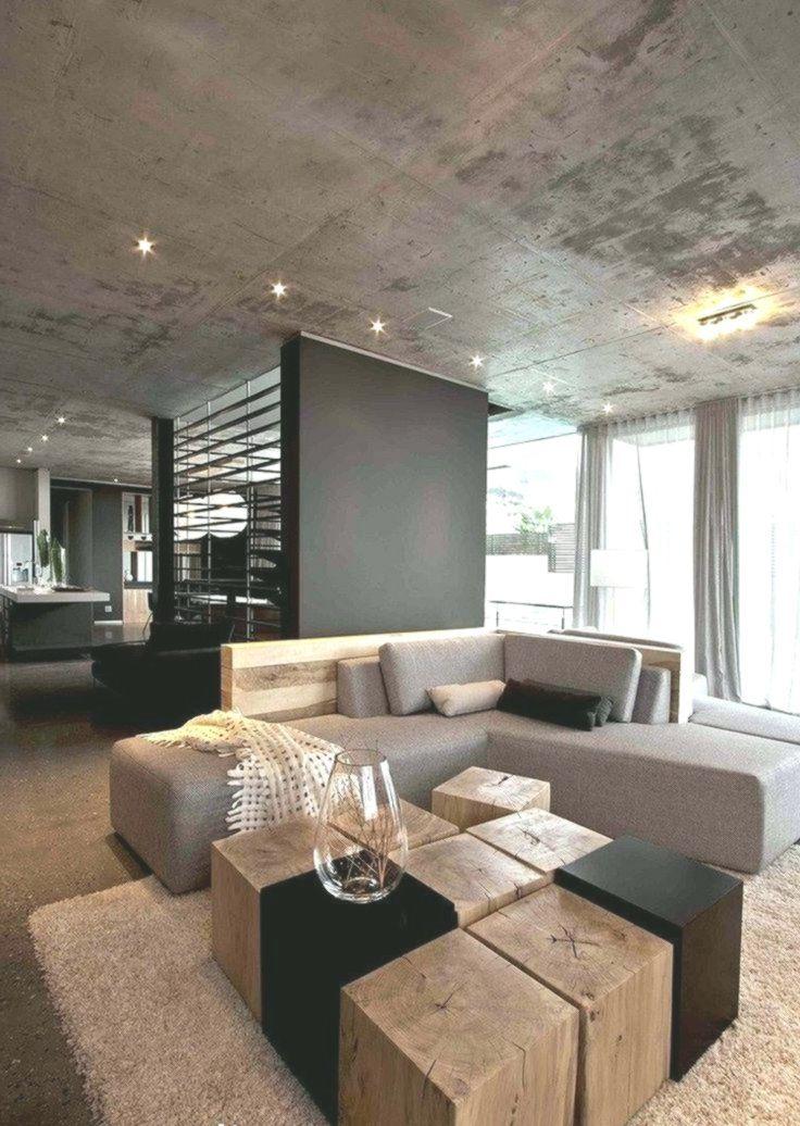 Wohnzimmer Grau Eckcouch Baumstumpf Holzbloecke Couchtisch Betondecke Minimalist Wohnzimmer Dekor Haus Und Wohnen Produktdesign