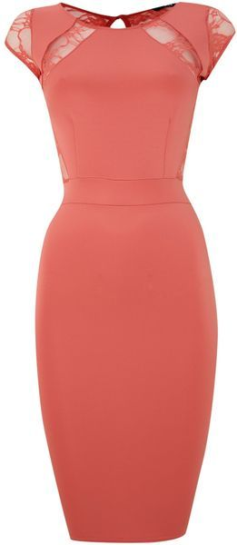 Tfnc Pink Sleeveless Bodycon Dress with Top Detail