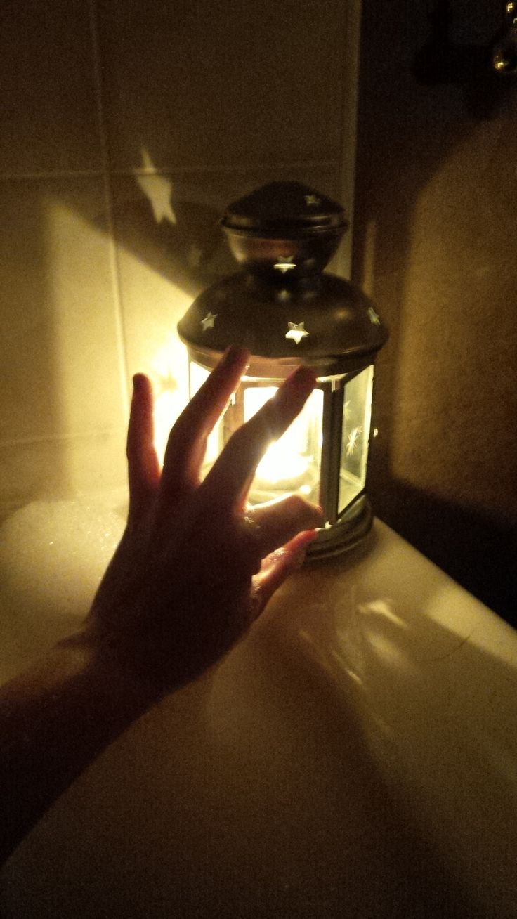 a Christmas candle-lit bubble bath. With choir music, of course.