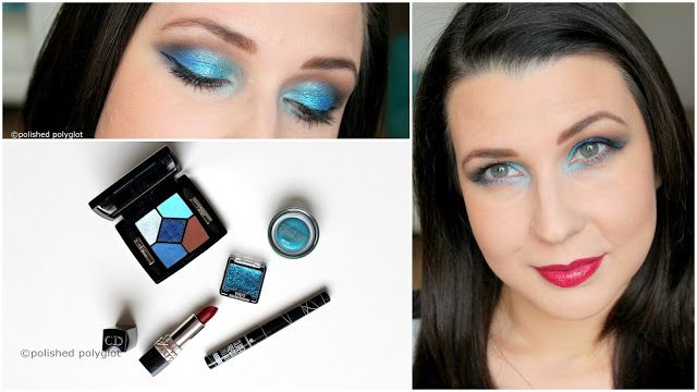 """Makeup  Bold and Bling-bling Turquoise and Blue glitter for the Holidays [Monday Shadow Challenge]    (Défilez vers lebaspour le Français)  Hello my lovelies! December has started and makeup-wise this month will be BOLD & BLING BLING!!Get ready to see many ideas to incorporate glitter on your looks and to dare colours combination that will make you stand out from the crowd!  For our first December appointment of the """"Monday Shadow Challenge"""" we have to use """"blue glitter and turquoise"""". Blue…"""