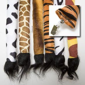 Clip On Animal Tails ~ Perfect for Zoo Party Favors or Dress Up Items