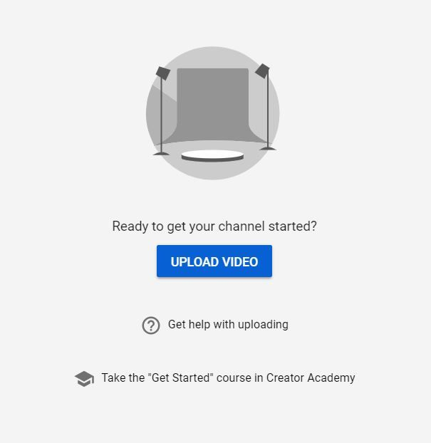 Youtube Studio Empty State You Got This How To Get