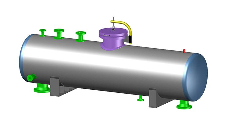 """Here is my one of my latest CADWorx Models. It's a Depropanizer Reflux Accumulator. The vessel I modeled in CADWorx Equipment 2014. Stay tuned as I model an entire 4 unit process facility. The facility and it's components are taken from """"Pipe Drafting and Design"""", Third Edition."""