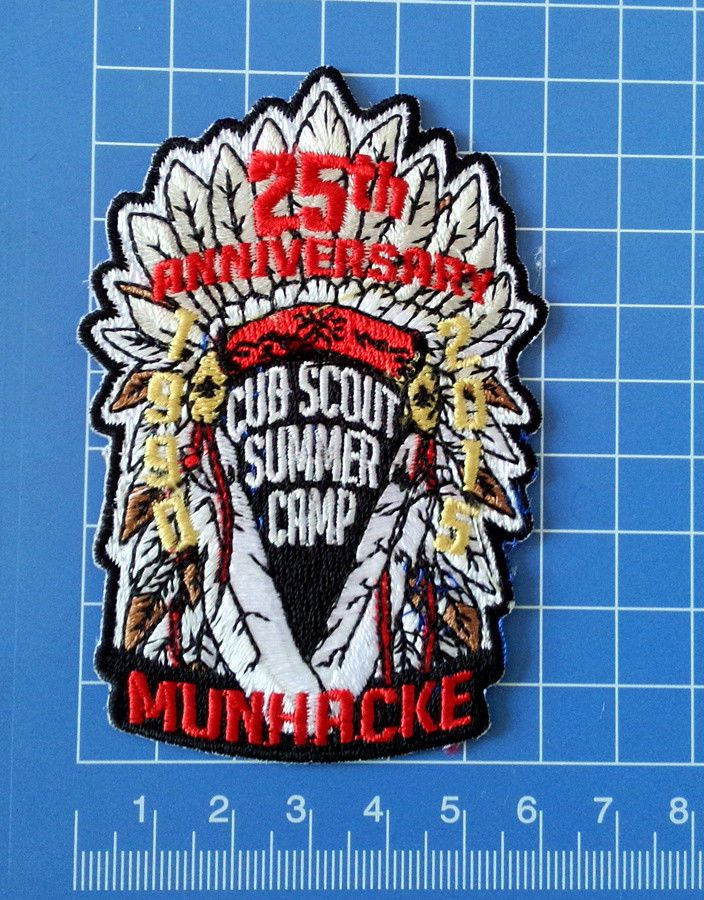 F/S BSA Patch Cub Scout Summer Camp 25th Anniversary