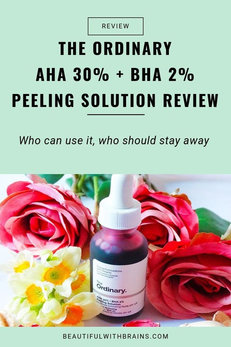 The Ordinary AHA 30 + BHA 2 Peeling Solution review and