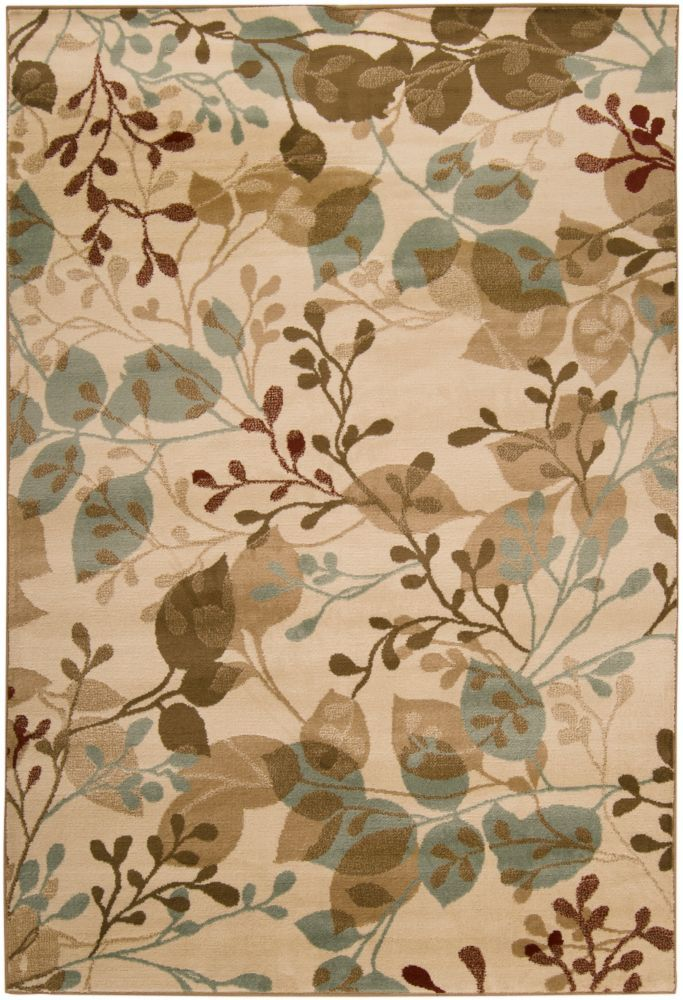 Pampatar Raw Umber Polypropylene  - 5 Ft. 3 In. x 7 Ft. 6 In. Area Rug