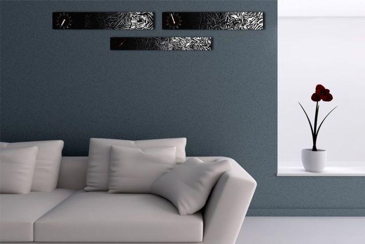 Interior Wall Clock Tiger Home Decor, Modern Luxury 3pcs Framed Wall Art   #LEMONART #ArtDeco