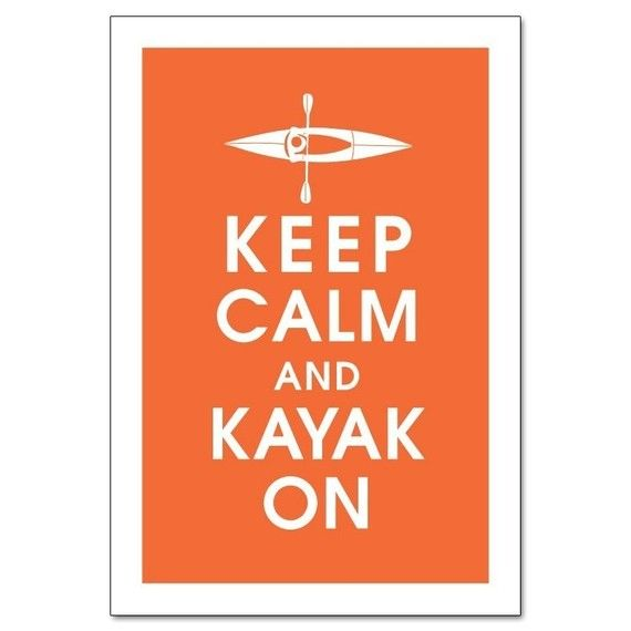 I kayak, therefore I am.
