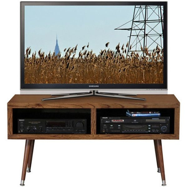 Retro Tv Units Uk Part - 50: Mid Century Modern Retro TV Stand - Mayan Double Bay Mocha