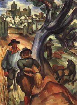 """Simão César Dórdio Gomes: """"Alentejo"""". Ano: 1941.  Local: Centro de Arte Moderna (Lisboa)"""