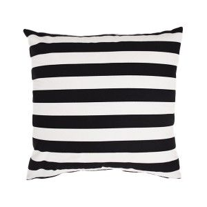 Black and White Stripe Cushion  ww.st-barts.com.au