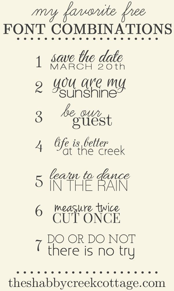 The Shabby Creek Cottage: Favorite Free Font Combinations