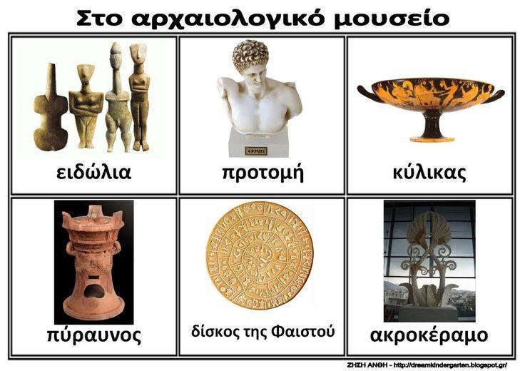 Ζήση Ανθή : Εποπτικό υλικό για τη διεθνή ημέρα των μουσείων (18/5) στο νηπιαγωγείο .    Λίστες αναφοράς για τα εκθέματα του αρχαιολογικού μ...