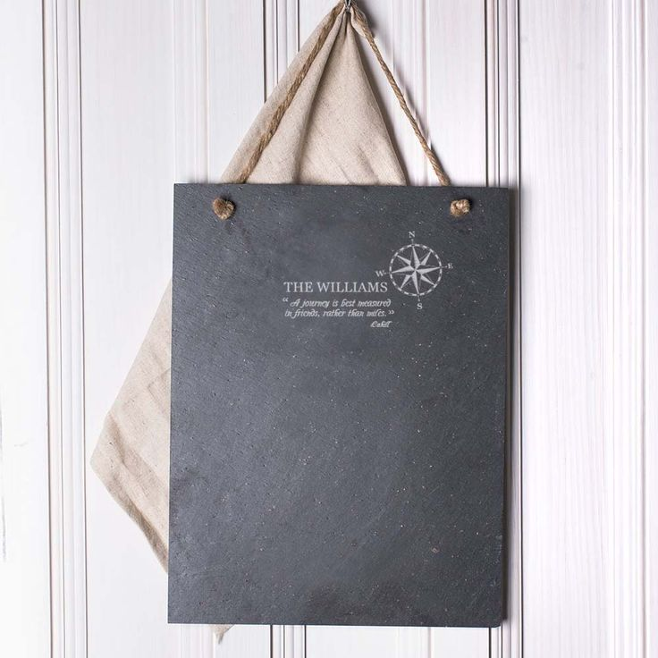 Add a little personalized appeal to your home or office decor with our Compass Design Custom Slate Wall Plaque! Slate is made from weather resistant material that is easily washable. It is suitable for both indoor and outdoor use. Use code SLX35 for 35% off and FREE shipping!  #monogramonline #slate #sale #homedecor