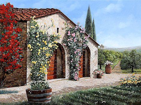 il ritiro in Toscana by Guido Borelli
