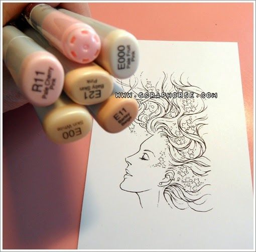 Copic Marker Europe: Facial features - Tutorial