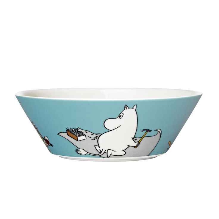 Moomintroll turquoise Bowl. http://www.skandium.com/moomintroll-turquoise-bowl