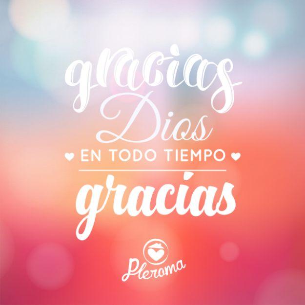 Damos gracias a Dios por todo lo que nos das a diario padre celestial.