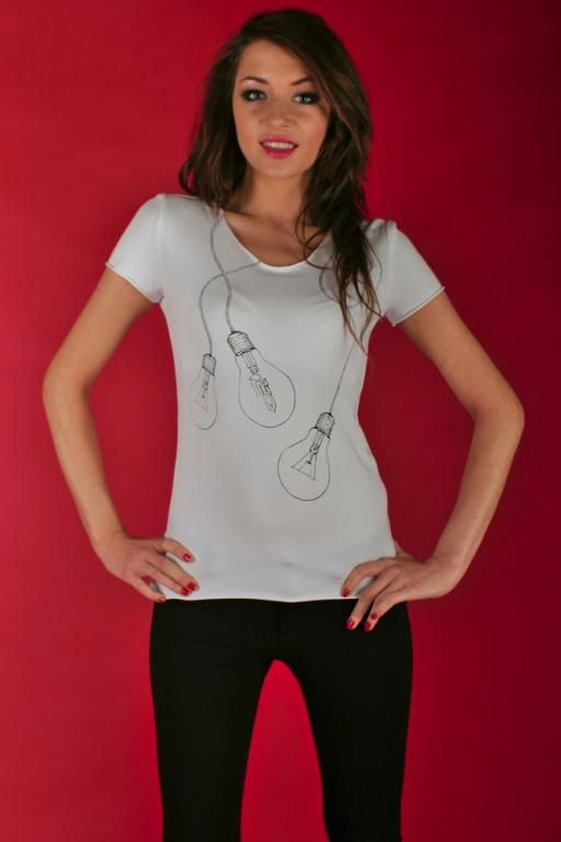 Koszulka z nadrukiem - żarówki MADISSO S