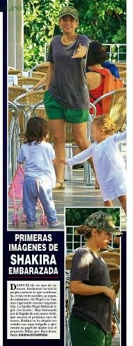 Shakira passeia com Milan e exibe sua segunda gravidez (Revista ¡Hola!, Espanha).  Shakira exibe su segundo embarazo junto al hijo Milan (Revista ¡Hola!, España).  Shakira shows her second pregnancy during a day off with her first son Milan. (¡Hola! Magazine, Spain). #ShakiraBrasil #Shakira #Milan #Barcelona #Hola