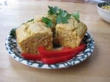 Kamut Jalapeno Cornbread - garlic, jalapeno peppers (Phase 6 or sub minced green pepper and cayenne), corn, eggs, olive oil, milk of choice, allowed sweetener, baking powder (check ingreds), cornmeal, kamut flour