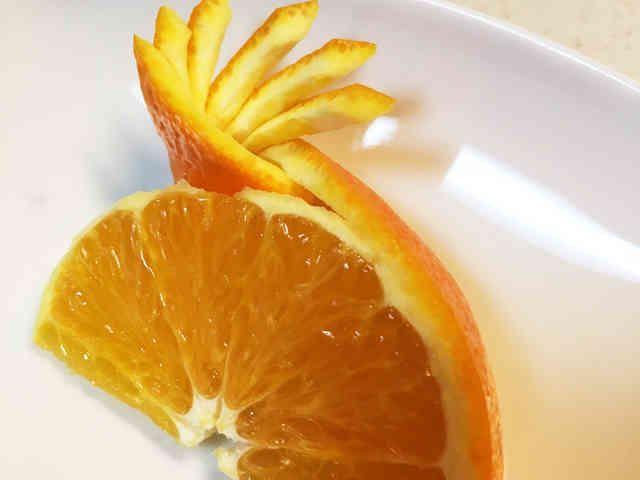 オレンジの飾り切り、切り方の画像