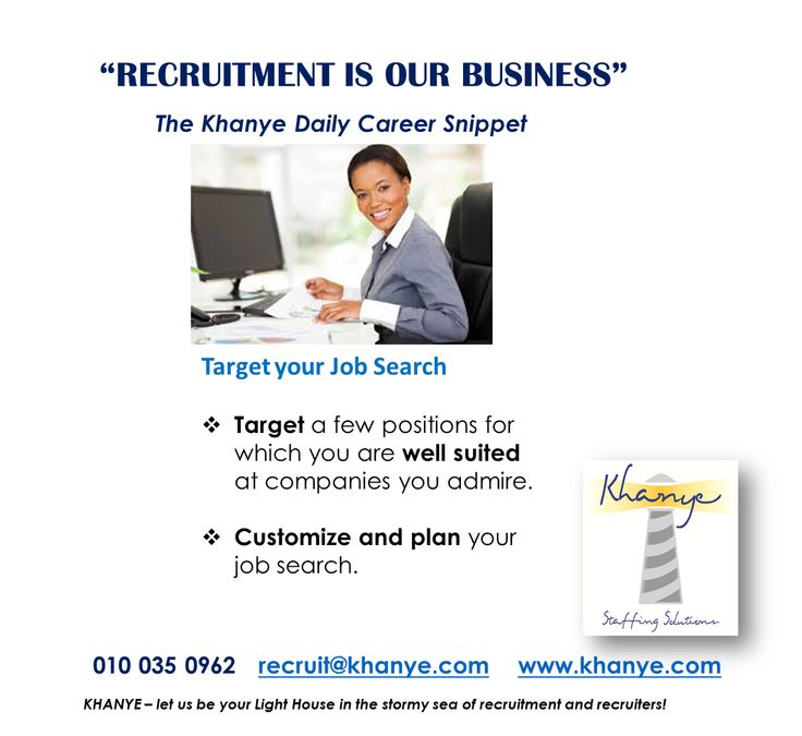 Target your job search