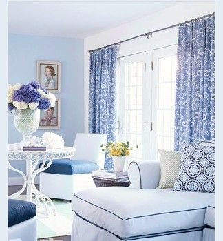 23 best images about blue and white curtains on pinterest Curtains for blue living room walls