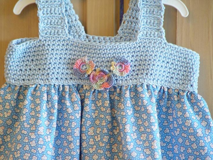 Baby summer dress -crochet top and cotton skirt...